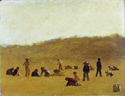 Famous Artists - Cranberry Pickers by Eastman Johnson
