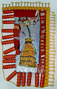 Evening Dress Painting Originals - Cranberry Queen Of Portland - Framed by Nancy Mauerman