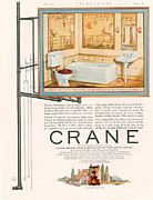 Featured Metal Prints - Crane 1926 1920s Usa Cc Bathrooms Metal Print by The Advertising Archives