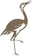 Crane Metal Prints - Crane-heron-looking-forward Metal Print by Aloysius Patrimonio
