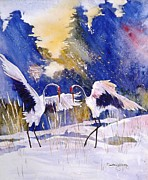Courtney Wilding - Cranes in winter...