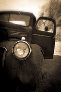 Headlight Metal Prints - Crash Metal Print by Edward Fielding