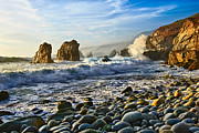 Jamie Pham Metal Prints - Crash - Waves from Soberanes Point in Garrapata State Park in California. Metal Print by Jamie Pham