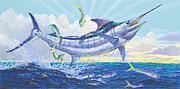 Marlin Azul Framed Prints - Crasher Off0034 Framed Print by Carey Chen