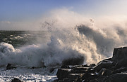 Maine Photographs Prints - Crashing Surf Print by Marty Saccone