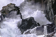 Lubec Prints - Crashing Wave at Quoddy Print by Marty Saccone