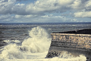Harbour Wall Framed Prints - Crashing Waves Framed Print by Christopher and Amanda Elwell