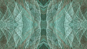 Lines Of Energy Prints - Crashing Waves Of Green 3 - Abstract - Fractal Art Print by Andee Photography