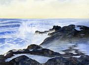 Sharon Freeman - Crashing Waves on Rocks