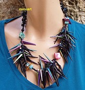 Featured Jewelry - Crasy And Spaikey Necklace by  Nurit Schlomi Von-staruss