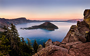 Crater Lake Sunset Photos - Crater Lake National Park by Alexis Birkill