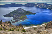 Crater Lake Prints - Crater Lake Oregon Print by Pierre Leclerc