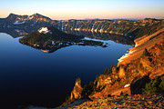 Crater Lake Sunset Prints - Crater Lake Sunrise Print by Ray Mathis