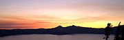 Silhouettes Metal Prints - Crater Lake Sunset Metal Print by Brian Harig