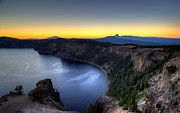 Crater Lake Sunset Prints - Crater Lake Sunset Print by Mike Ronnebeck