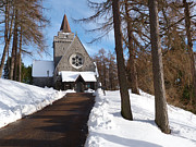 Church Of Scotland Posters - Crathie Parish Church in winter Poster by Phil Banks