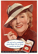 Vintage Posters - Craven A 1936 1930s Usa Womens Hats Poster by The Advertising Archives