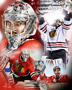 Goalie Digital Art Prints - Crawford Print by Mike Oulton