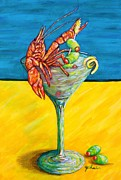 Crawfish Posters - Crawtini Poster by JoAnn Wheeler