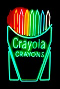 Neon Glass Art - Crayola Crayons by Pacifico Palumbo