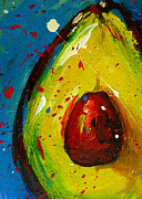 Yellow And Brown Posters - Crazy Avocado 4 Poster by Patricia Awapara