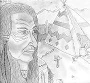 Gerald Griffin Art - Crazy Horse Indian by Gerald Griffin