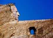 Stone Carvings Prints - Crazy Horse Print by Karen Wiles