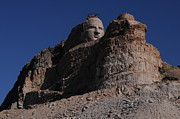 Indian Warrior Sculpture Prints - Crazy Horse Memorial Print by Cyril Furlan