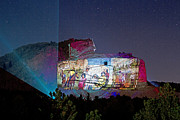 South Dakota Tourism Photos - Crazy Horse Monument Laser Show by John Haldane