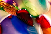 Macro Photos Glass Art - Crazy Love by Omaste Witkowski