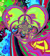 Hippie Posters - Crazy Love Poster by Wendy J St Christopher