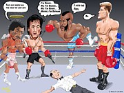 Sylvester Stallone Digital Art - Crazy Rocky by Randy  Arnold
