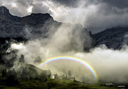 Cloud Inversion Framed Prints - Crazy weather in the Val Badia Framed Print by James Rushforth