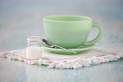 Drinks Photos - Cream and Coffee by Kay Pickens