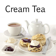 Devon Framed Prints - Cream Tea Framed Print by Colin and Linda McKie
