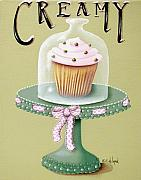 Ribbon Prints - Creamy Cupcake Print by Catherine Holman