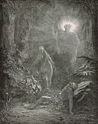 Bible Drawings - Creation of Eve by Antique Engravings