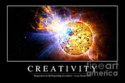 Poster From Digital Art Posters - Creativity Inspirational Quote Poster by Stocktrek Images