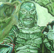 Creature From The Black Lagoon Prints - Creature From The Black Lagoon Print by Michael Morgan