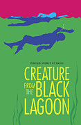 Poster From Digital Art Posters - Creature from the Black Lagoon Poster by Ron Regalado