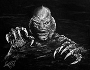Classic Horror Prints - Creature Print by Tom Carlton