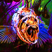Fantasy Creature Prints - Creatures Of The Deep - Fear No Fish 5D24799 square v2 Print by Wingsdomain Art and Photography