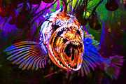 Fantasy Creature Prints - Creatures Of The Deep - Fear No Fish 5D24799 v2 Print by Wingsdomain Art and Photography