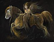 Angel Art Paintings - Creatures Of The Night by Angel  Tarantella