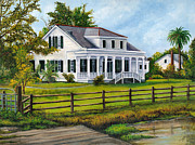 Southern Plantation Paintings - Creedmoor Plantation by Elaine Hodges