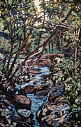 Expressionist Creek Oil Paintings - Creek Near Smart View by Kendall Kessler