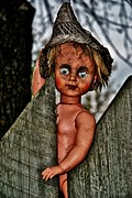 Creepy Mixed Media - Creepy Doll by Todd and candice Dailey