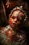 Hand Prints - Creepy - Doll - Its best to let them sleep  Print by Mike Savad
