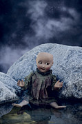 Creepy Doll Print by Joana Kruse