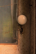Haunted House Photos - Creepy Door Knob of Abandoned House by Jill Battaglia